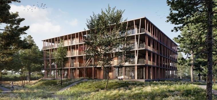 """KIKX Development na een tenderprocedure geselecteerd voor de ontwikkeling van appartementengebouw """"Het Bosbad"""" te Eindhoven."""